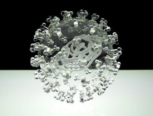 Deadly Elegance - Artist Luke Jerram created a glass sculpture of the swine flu virus while suffering from swine flu.