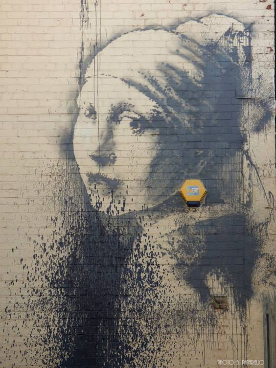 "Banksy /// ""The Girl With Pierced Eardrum"", Bristol"
