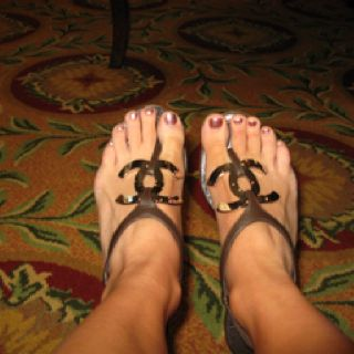 My favorite Chanel sandals!