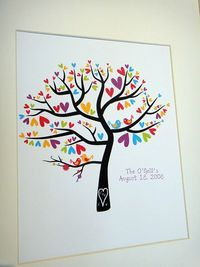 Personalized Family Love Birds in a Heart Tree by penguinpapyrus, $18.00