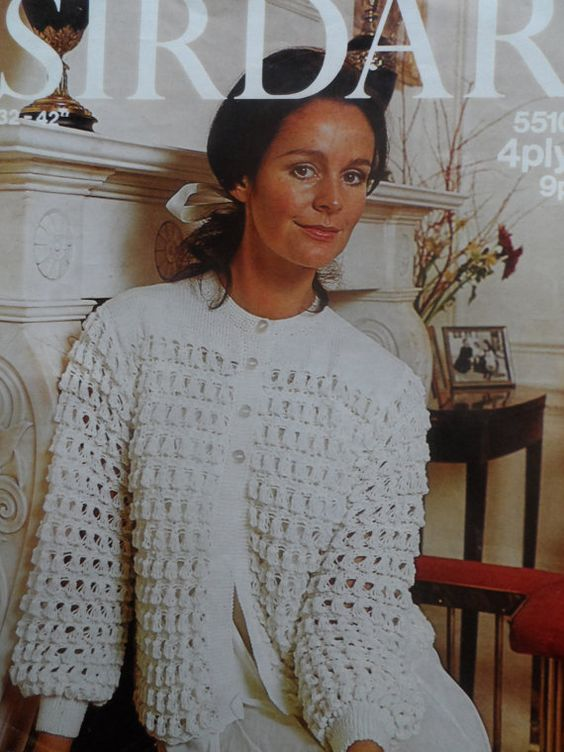 Old Sirdar Knitting Patterns : Ladies Bed Jacket PDF File Vintage Sirdar Knitting Pattern 5510 Knitting ...