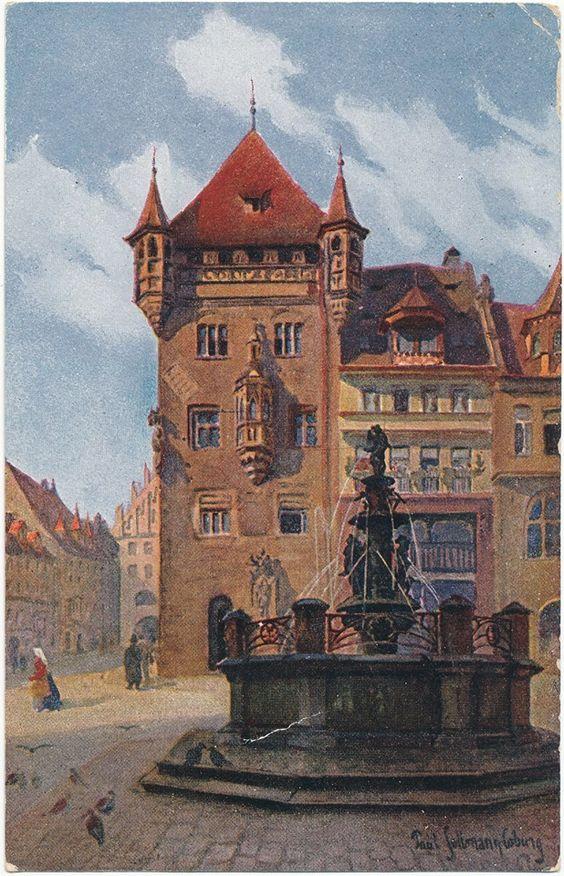 Nassauer Haus auf dem Lorenzer Platz in Nürnberg.