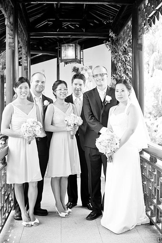 Bridal Party Wedding at Snug Harbor Botanical Gardens Tricia LaPonte Photography