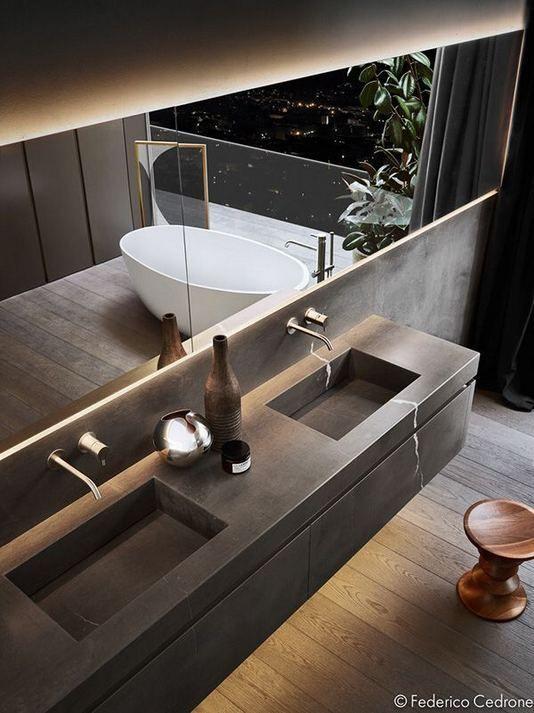 15 Inspiring Marble Bathroom Sink Designs For Your Luxury Home Beton Badkamer Badkamer