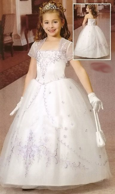 2016 first communion dresses for girls Smooth Satin Ball Gown ...