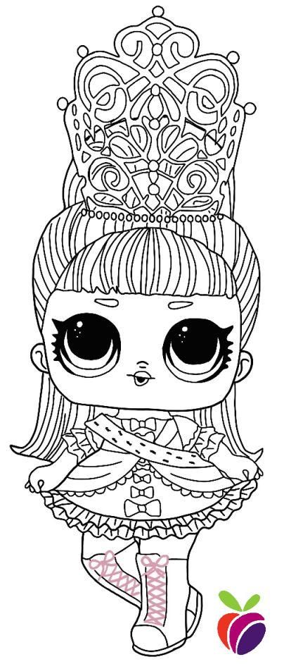 Lol Surprise Hairgoals Series Coloring Page Her Majesty In 2020