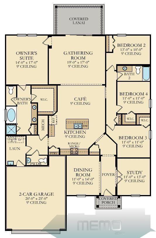 Apr 26 2017 Serenata New Home Plan In Longleaf 60 Homesites By Lennar Traumhausmodern Dreamhouserooms Mai In 2020 New House Plans House Plans House Floor Plans