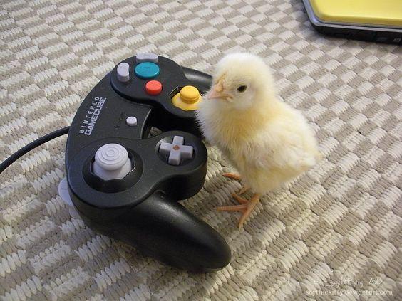 Grumpy Gamer Chick by ScythicKitty