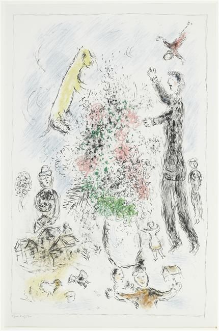 Lilacs - Marc Chagall - 1980 - lithography - Musée national Message Biblique Marc Chagall, Nice, France