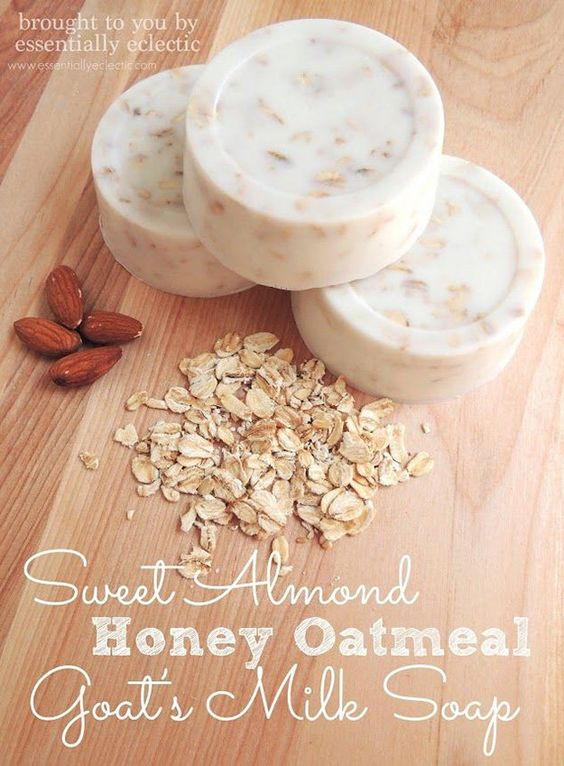 Soap Making! Oatmeal with Almonds Goat Milk Bar | http://diyready.com/18-incredible-homemade-soap-ideas-how-to-make-homemade-soap/