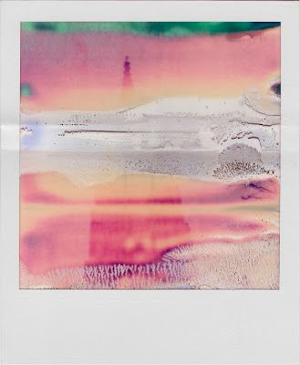 Polaroid with cool color fading