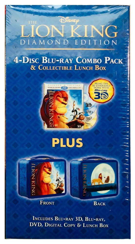 Disney The Lion King Blu Ray Dvd 4 Disc With Collectible Lunch Box Disney Lion King Blu Ray Blu Ray Lion King