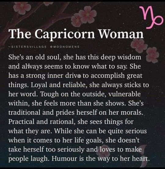 Know woman capricorn what to about 10 things