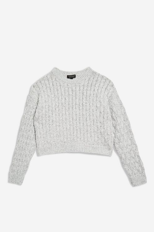 pick up first look detailed images Circle Stitch Cropped Jumper | Jumper, Fashion, Knitwear