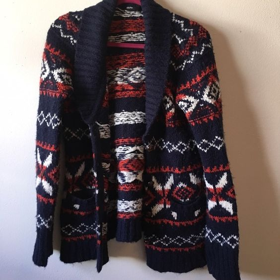 Urban Outfitters BDG sweater, Size M Toggle-like button closure. Red, blue, white. Long sleeve. True to size. Urban Outfitters Sweaters Cardigans