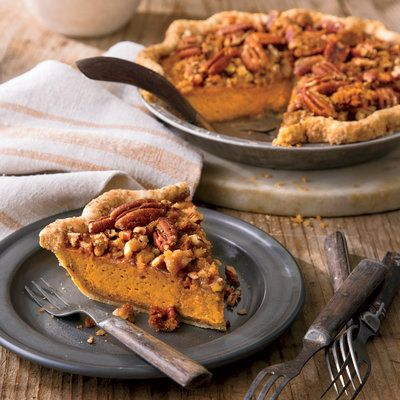Dazzling Thanksgiving Pies: Pumpkin-Pecan Streusel Pie:
