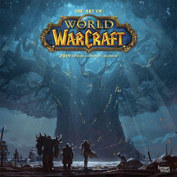 World Of Warcraft 219 Calendar Blizzard Gear Store World Of Warcraft Warcraft Calendar Videos