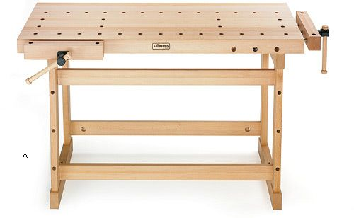 Sjöbergs Cabinetmaker's Workbench - Woodworking I like that it's a bit shorter than average and still has front and end vises.