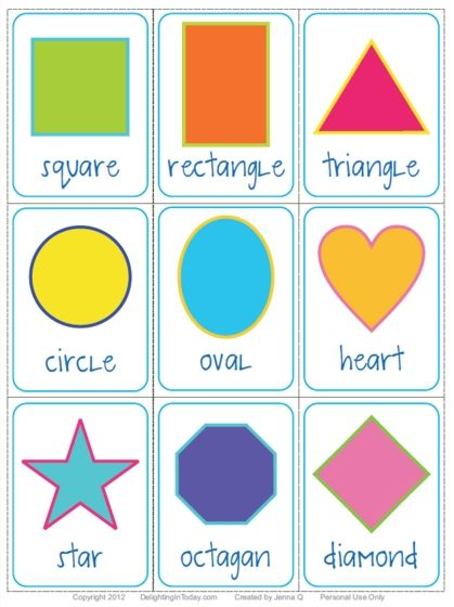 Explore printable shape shapes flashcards and more