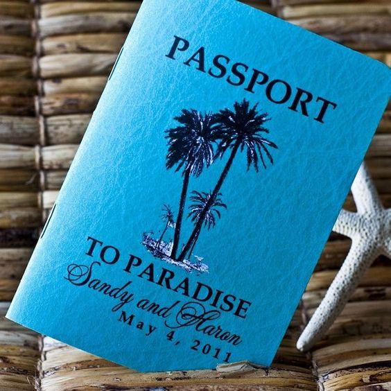 Passport Invitations, Passport And Canadian Passport On