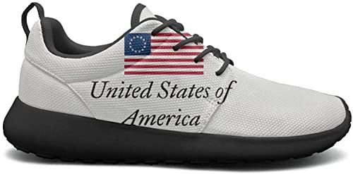King Fong Womens Running Shoes Betsy Ross Comfort Tennis Sneakers for Women Flag Sneakers