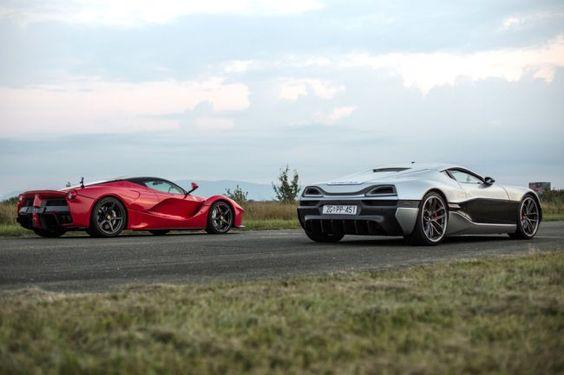 Ferrari LaFerrari contra el brutal Rimac Concept_One ¿Quién ganará?