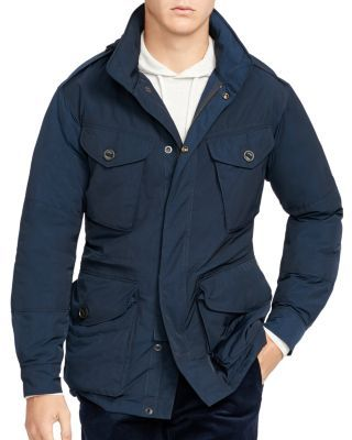 Polo Ralph Lauren Down Combat Jacket $395.00 Packed with pockets and finished with epaulets, this 750-fill-power down jacket by Polo Ralph Lauren nods to classic military style.