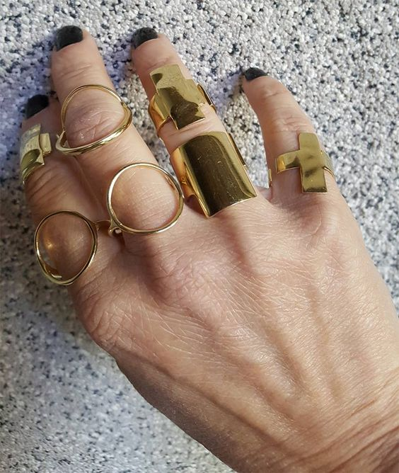 Dora Haralambaki   -  déc. 2017·  Our various collection of Gold rings... so many ways to wear!