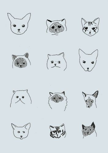 neither one is likely to Eight,my cats.: Kitty Cat, Cat Face Drawing, Cat Pattern Illustration, Cat Cat, Cats Illustration, Wallpaper Cat