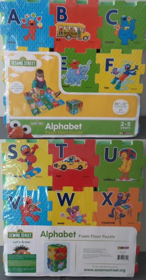 Blocks Tiles And Mats 145931 New Sesame Street Alphabet Foam Floor Puzzle 36 X12 Foam Mat Buy It Now Only 11 99 Foam Flooring Floor Puzzle Sesame Street