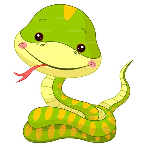 CLIPART FUNNY SNAKE Royalty Free Vector Design Baby Shower Ideas