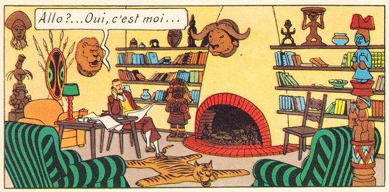 Chez Marc Charlet - Les 7 boules de cristal - Tintin - Hergé