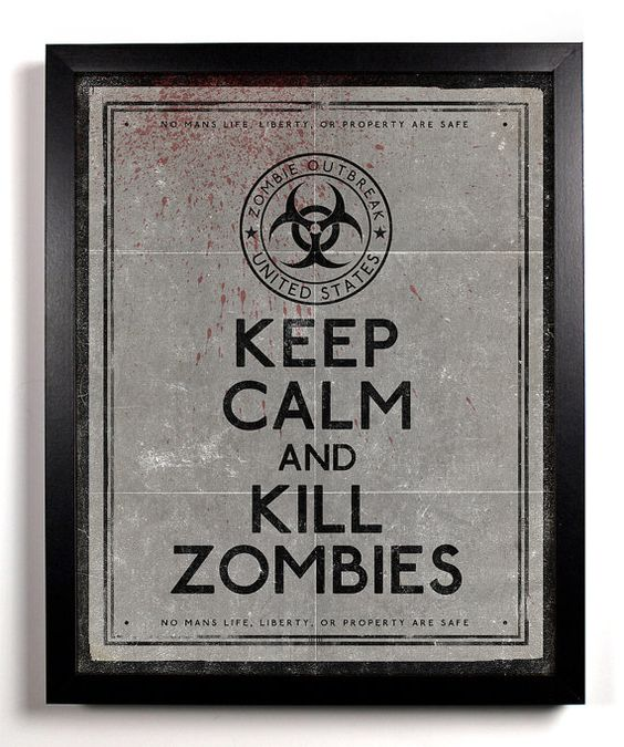 Combines my two loves: zombies & prints