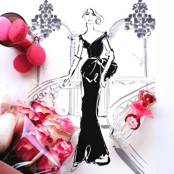 Inspired by a Parisian evening at the opera, this print is Opera Garnier en Noir... ❤ She's at www.kerriehess.bigcartel.com x