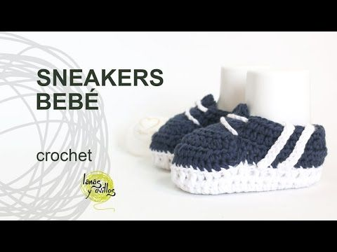 Tutorial Zapatillas o Sneakers de Bebé Crochet o Ganchillo en Español - YouTube