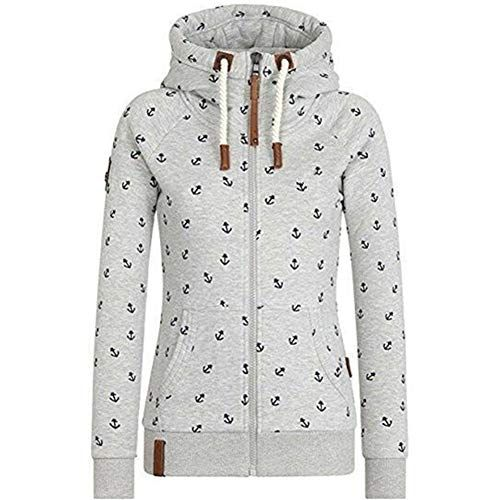 Newbestyle Sweat-shirt /à capuche pour femme avec fermeture /éclair