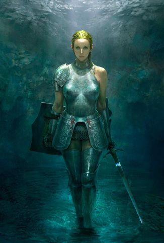 Female warrior concept art