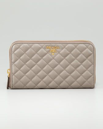Quilted Saffiano Leather by Prada at Neiman Marcus.