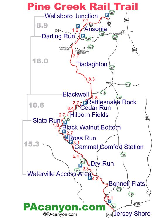 Images Of Rail Trails Pine Creek Rail Trail Map Is Provided