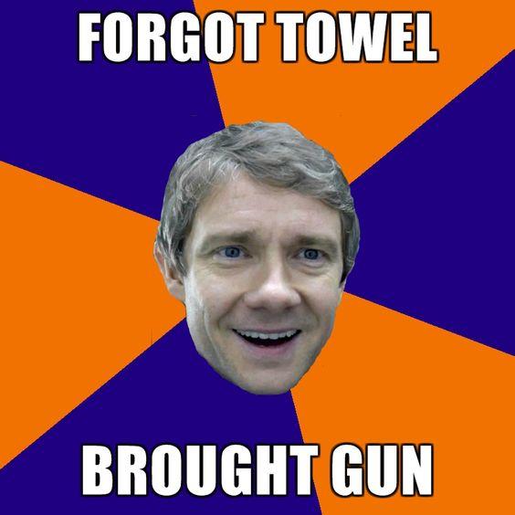 This is a great meme. I can't wait until the Arthur Dent + John Watson + Bilbo Baggins memes start rolling in.