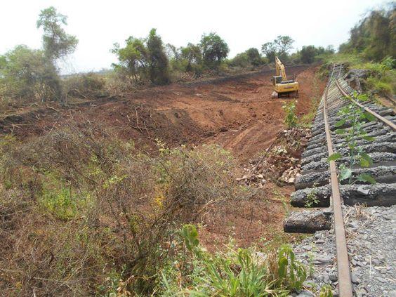 CRÓNICA FERROVIARIA: Comenzaron las obras de renovación de vías, puente...