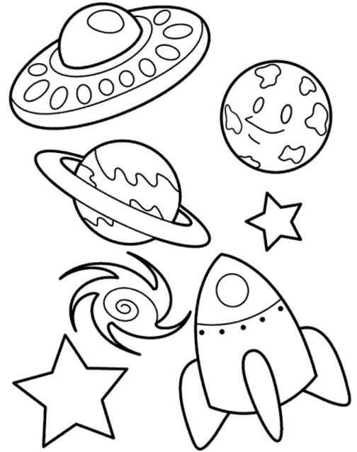 Solar System Objects Printable Coloring Page 2020 Boyama