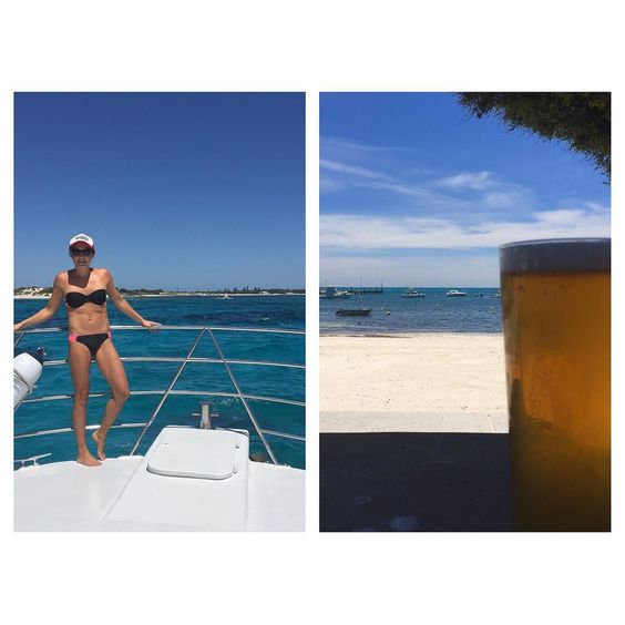 Rotto days are back  Thanks to @missandreahendroff for the invite on the work family day @seekau  So happy!  Cheers  #fullyseek #seekstagram #rotto #rottnestisland #nofilter #betterthanwork #thanksnanarob #boating #f45fam @f45_training @f45training_westleederville @f45training_airport #allthingsinmoderation @lize235 @perthisok by justjohodgo http://ift.tt/1L5GqLp