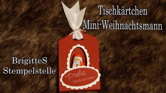 Tischkärtchen Mini Weihnachtsmann