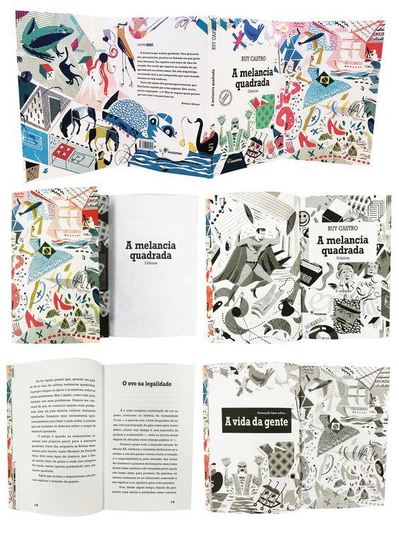 Design by Camila Fiorenza Ruy Castro - A melância quadrada - ilustrações de Nik Neves Ed. Moderna