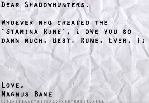 I'm sure that rune has been very beneficial to u and Alec, huh Magnus? ;-)