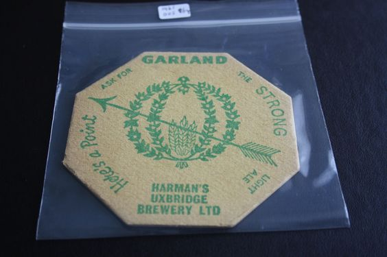 1961 Beermat Harmans (Uxbridge) Cat 005 (2A44 9/14)