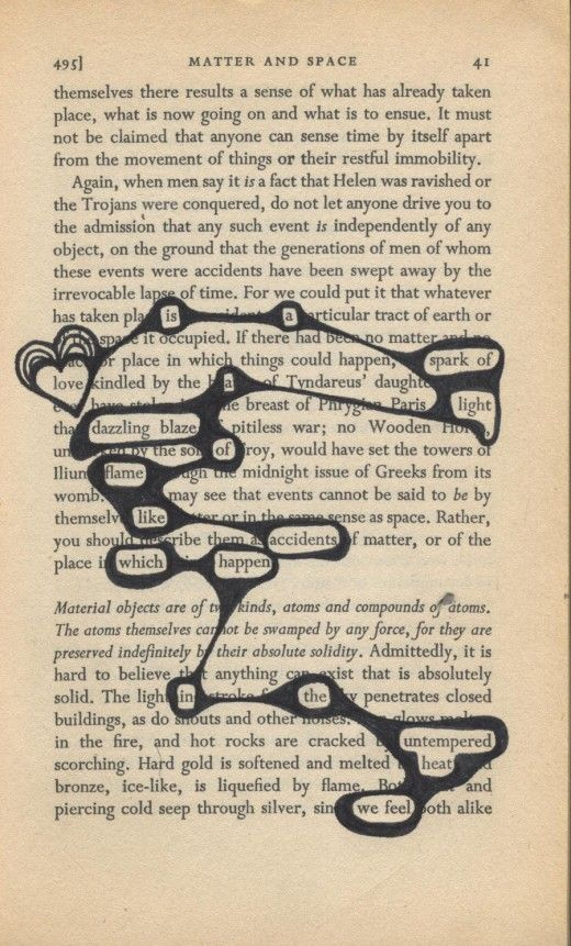 Créer un poème dans un vieux livre: