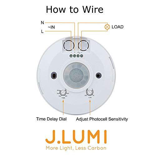 J Lumi Yca1050 Pir Motion Sensor Light Switch 2000w Ceiling Motion Sensor Passive Infrared Occupancy Senso Motion Sensor Lights Motion Sensor Motion Sensing