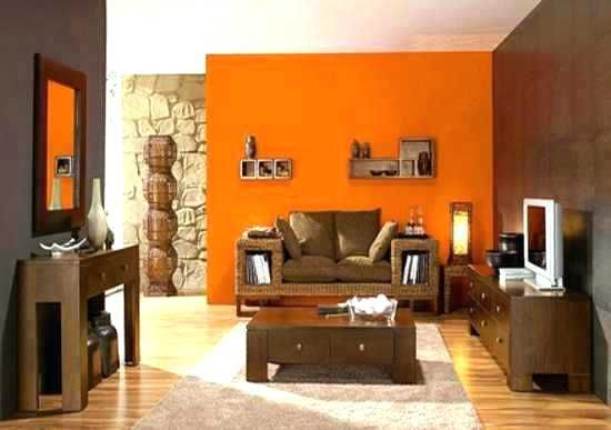 Orange Themed Living Room Brown And Orange Living Room ...